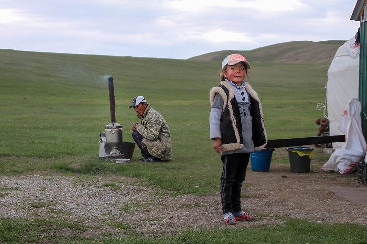 semi nomads in kyrgyzstan