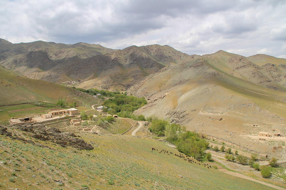 A view over Asraf village, Nurata, Uzbekistan