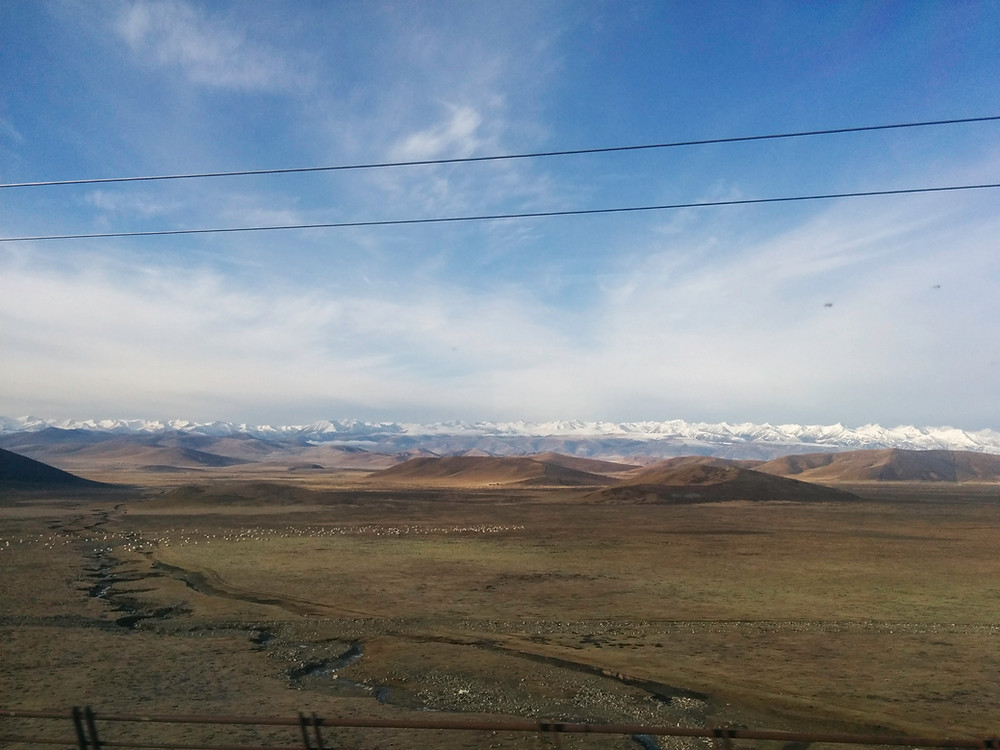 view from the train to xiahe