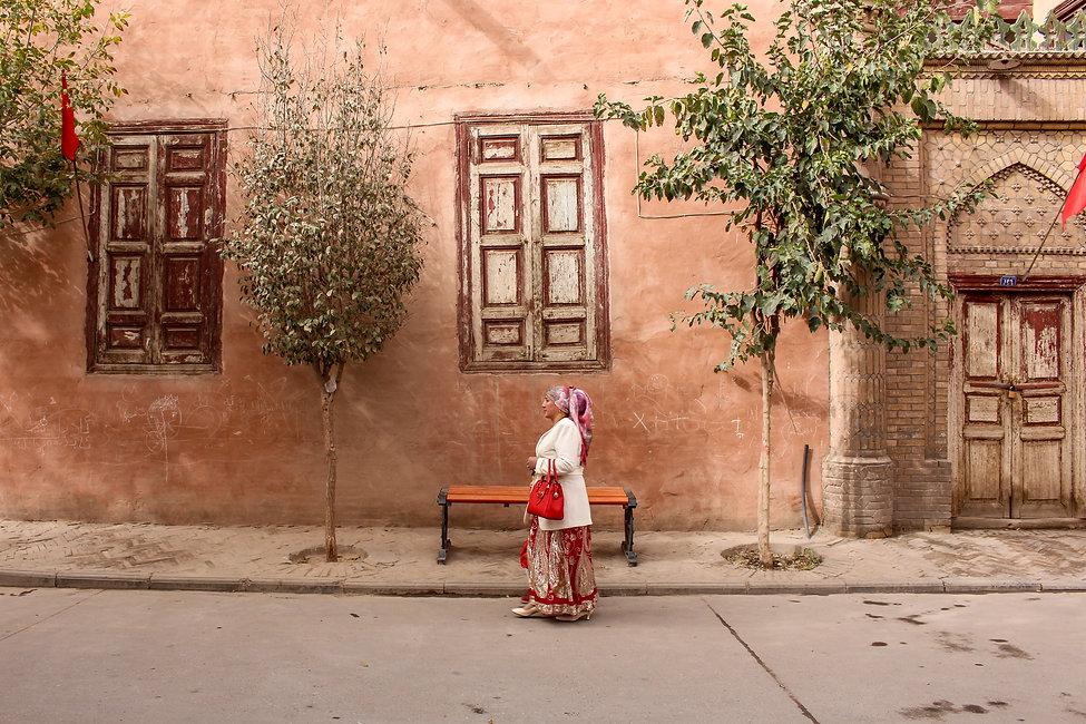 An uyghur woman in Kashgar