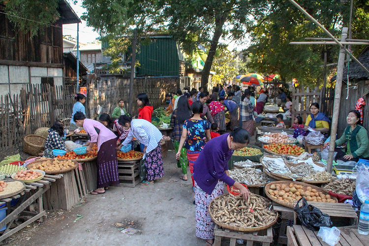 a local market in Monywa