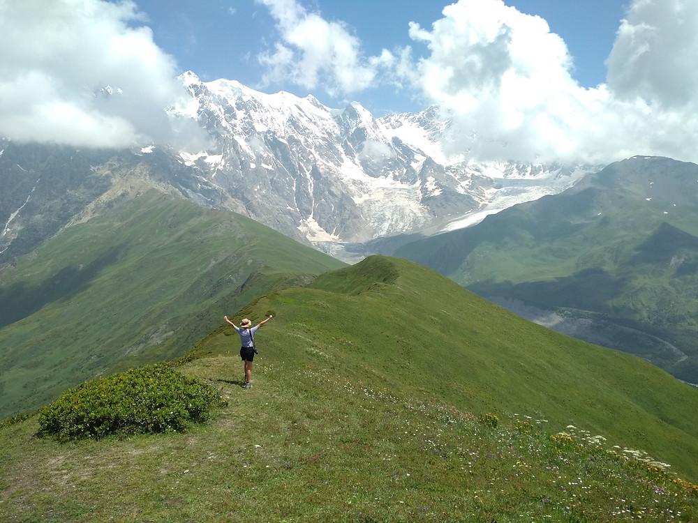 Trek from Mestia to Ushguli, Svaneti, Georgia
