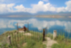 viewpoint over toktogul reservoir