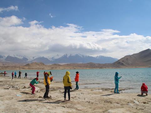 Karakul lake, Xinjiang province