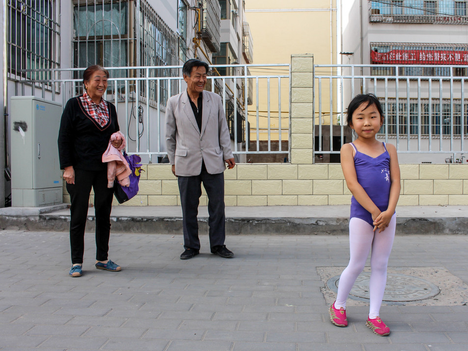 On the streets of Zhangye