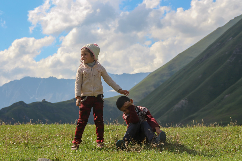 Kids in Truso valley, Georgia