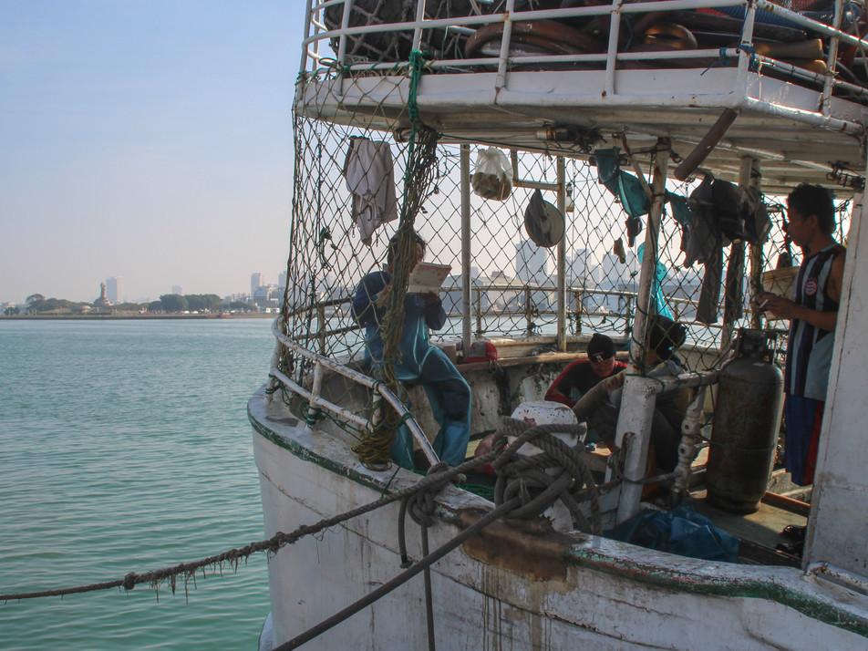 Fishermen harbour in Tainan