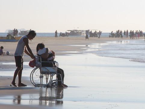 A family in Ngwe Saung beach