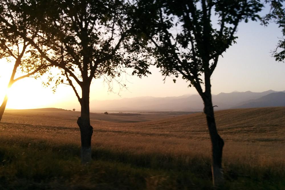 Sunset on the roads, Azerbaijan
