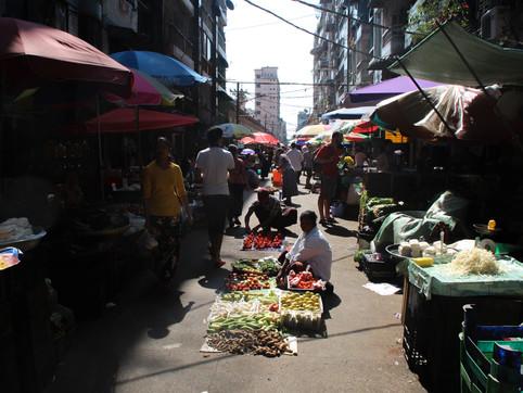 A market in Yangon