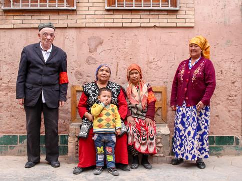 Uyghurs in Kashgar's old city