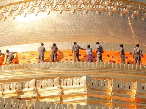 Bagan's golden temple