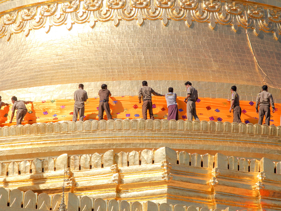 Bagan's golden temple