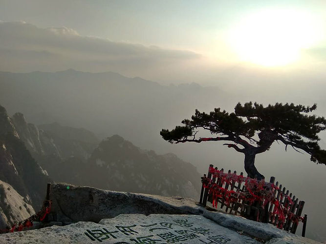 sunset in huashan, china