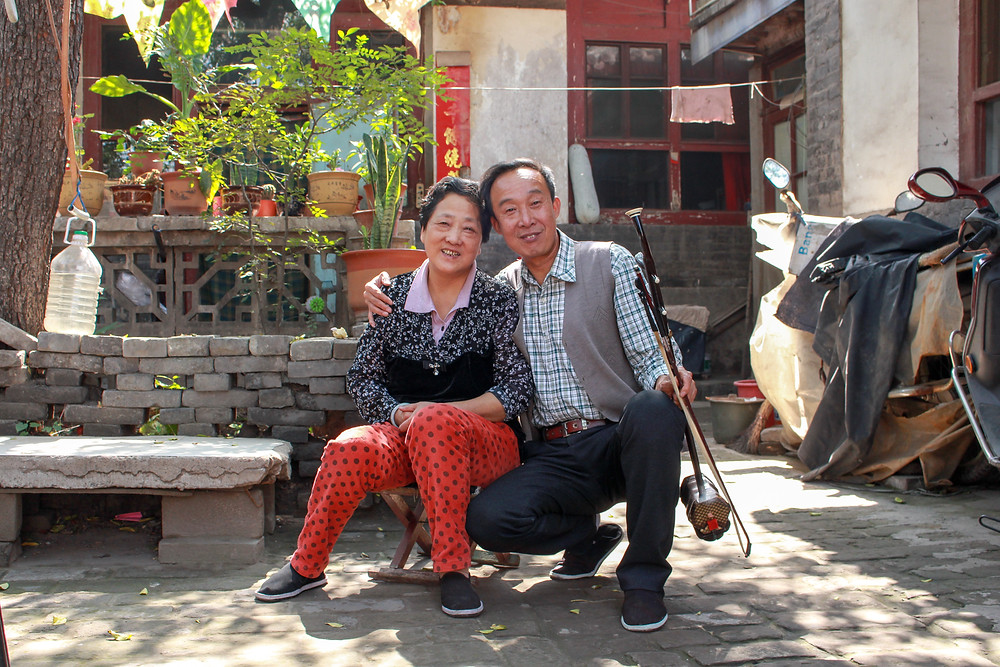 a Chinese couple in Pingyao
