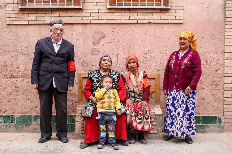 Uyghur family in Kashgar