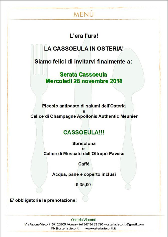 E' finalmente tempo di Cassoeula!