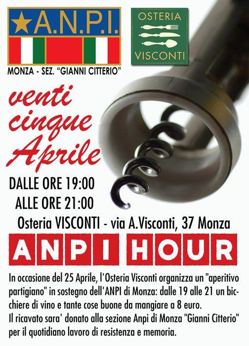 Dopo le manifestazioni vogliamo invitarvi a festeggiare la Festa della Liberazione e a sostenere l'Anpi di Monza