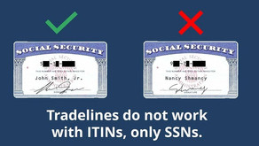 You cannot use an ITIN to build credit...