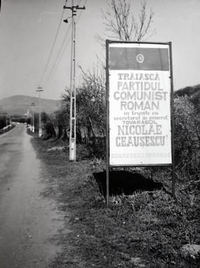Werbeplakat im rumänschen Kommunismus1988