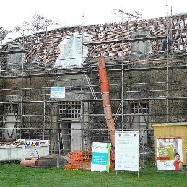 TR 2 travaux en cours en sept. 2008