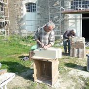 Travail du tailleur de pierres