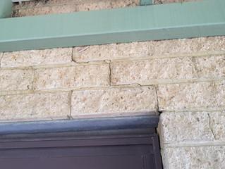 Cracks in brick walls