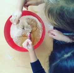 Haciendo galletitas saludables