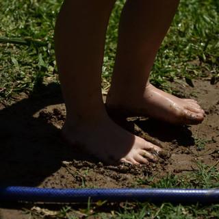 la naturaleza también se experimenta con los pies