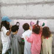 Haciendo el boceto de nuestro primer mural