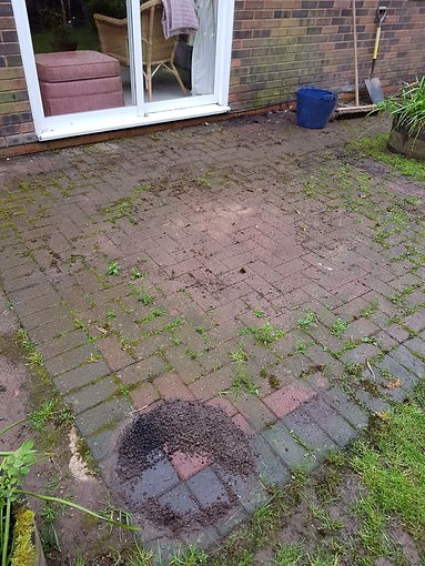 Dirty Patio in Worcestershire.