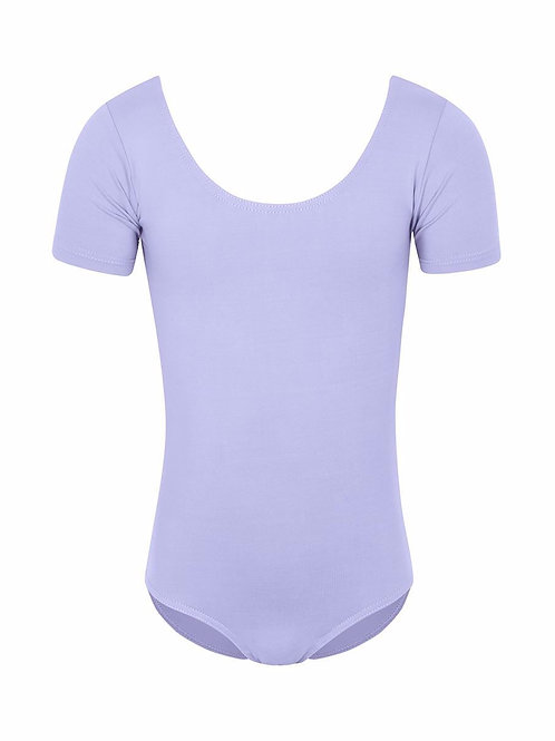 Lilac Capped-Sleeved Leotard