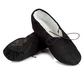 Black/ White Boys Ballet Shoes