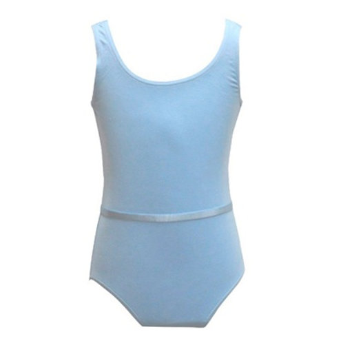 Freed Pale Blue Sleeveless Leotard