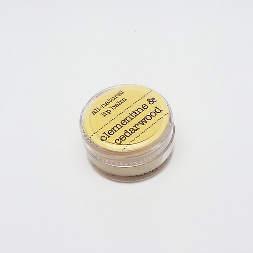 ALL-NATURAL LIP BALM / clear jar