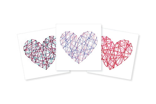 STRING HEART GREETING CARD