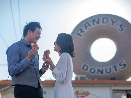 LA人気ドーナツ屋でウェディング?