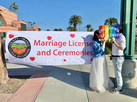 同性カップルの結婚式。