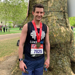 Matt running the London Marathon