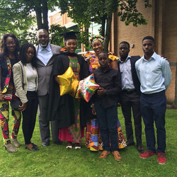 Family Photo At Daughters Graduation
