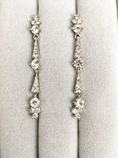 Boucles d'oreille strass - Sissi