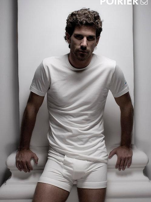 Boxer homme coton - Blanc