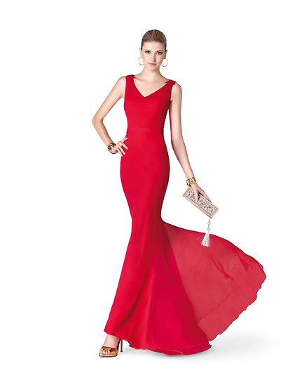 Robe de cocktail longue - 5353 Couleur Rouge