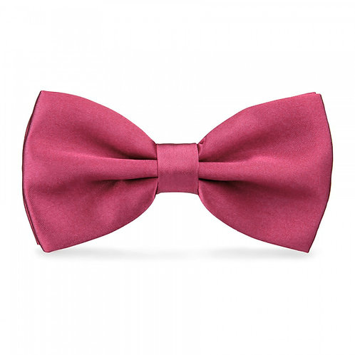 Noeud papillon satin - Framboise
