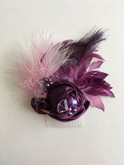 Coiffe cocktail - Couleur Violet
