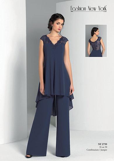 Combinaison pantalon - NY2799 Couleur Bleu marine