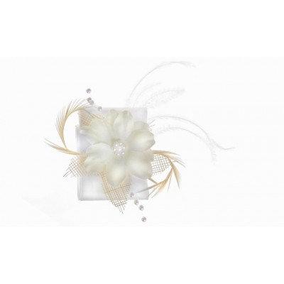 Bracelet en satin - BM001 Blanc