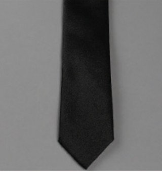 Cravate Enfant Les Petits' Mecs Satin Uni - Max Noir
