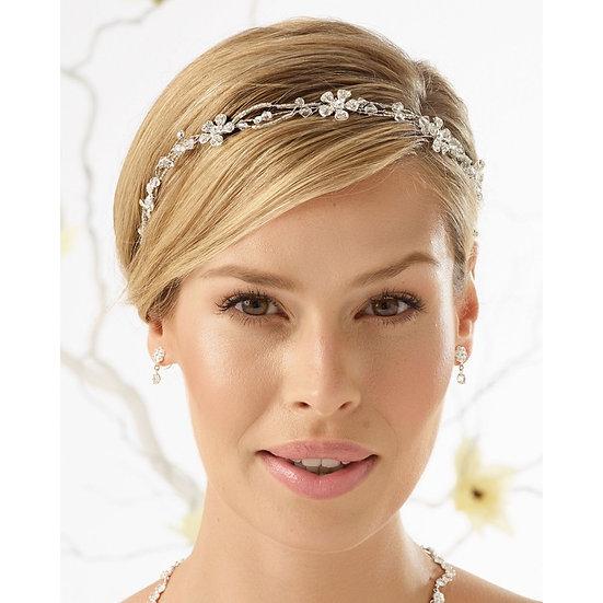 Serre tête de mariée cristaux D37