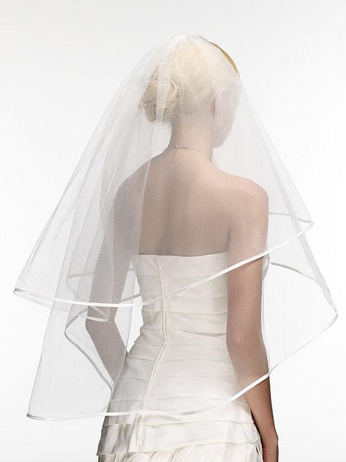 Voile de mariée tulle et satin - Graciela